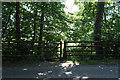 SK2935 : Gated entrance to Public Footpath by J.Hannan-Briggs