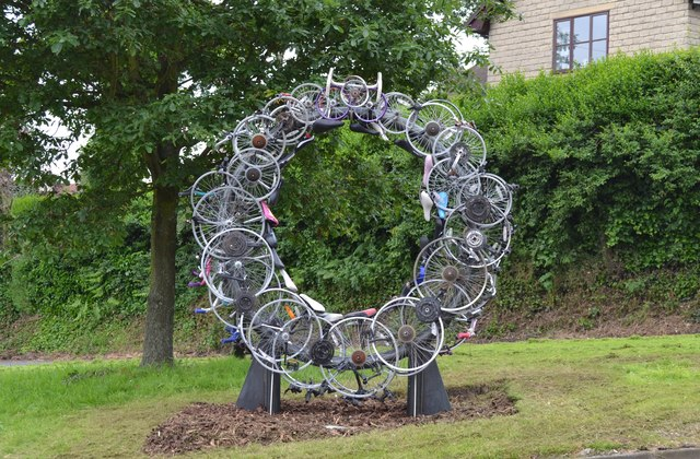 'Up-Cycle' Sculpture, Kirk Edge Road, Worrall, near Oughtibridge