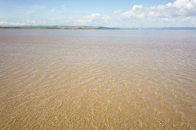 Sand flat in Morecambe bay