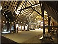 TL8422 : Interior of Coggeshall Grange Barn by David Smith
