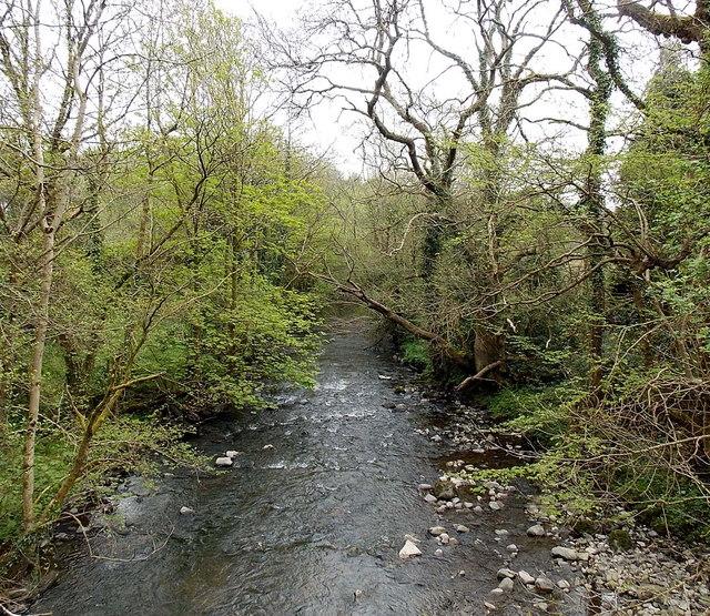 In Abercynon Rhondda Cynon Taf: Afon Cynon Downstream From A Footbridge,... © Jaggery Cc