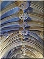 SJ8398 : Sculptured Ceiling, John Rylands Library by David Dixon