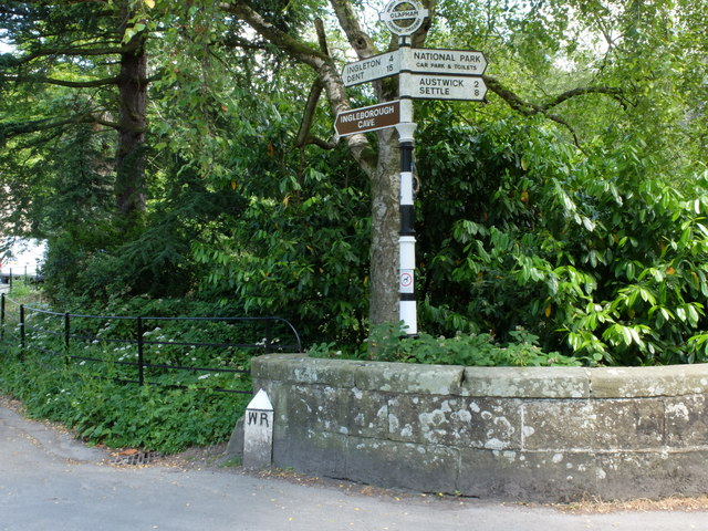 Old signpost and WR sign