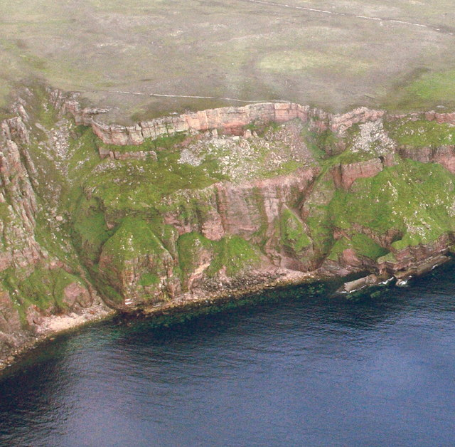 Cliffs and seashore just to the north of the Old Man of Hoy