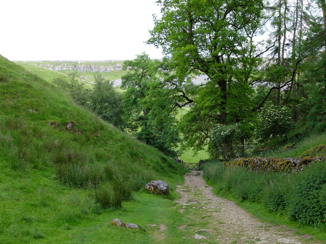 Looking downhill from Trow Gill