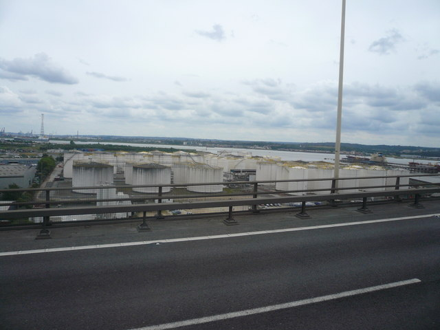 Oil Storage Tanks and River Thames