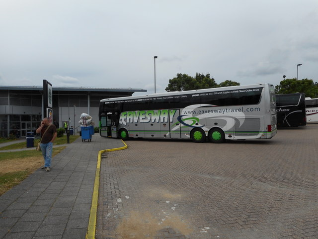 Several Coaches lined up at South Mimms Services