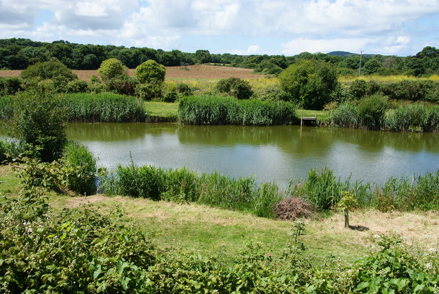 Fishing pond in the hayle valley bill boaden cc by sa 2 for Private fishing ponds near me