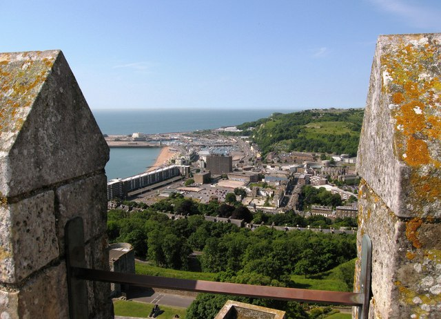 Dover from the top of Dover Castle