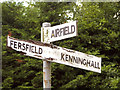 TM0784 : Old direction signs at Fersfield Common by Evelyn Simak