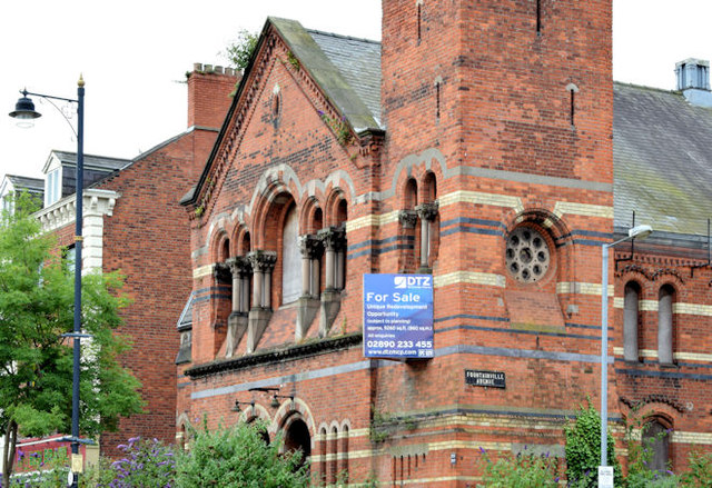 Former Methodist church, University Road, Belfast (July 2014)