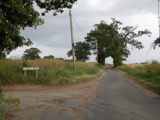 Church Road at Little Glemham