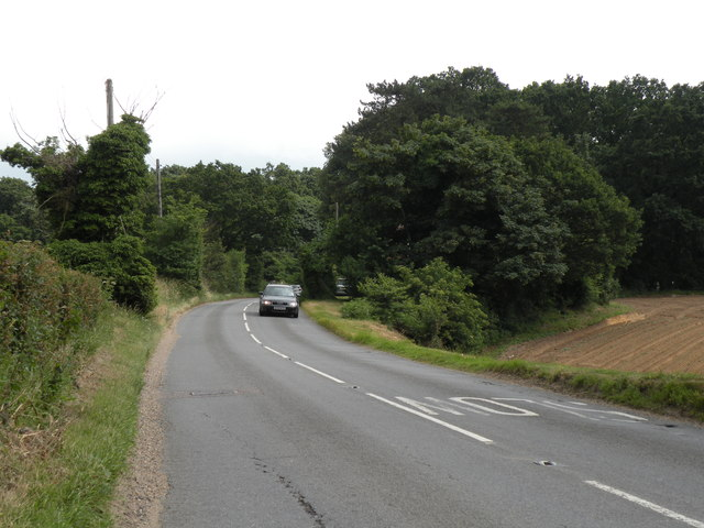 Farnham Road, the A1094, heading towards Snape
