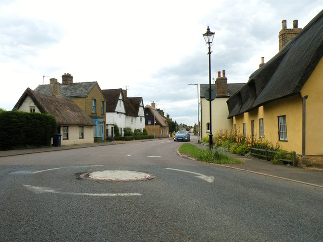 Cottenham High Street as seen from All Saints church