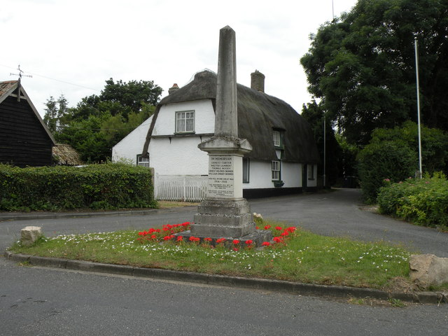 The War Memorial at Fen Drayton