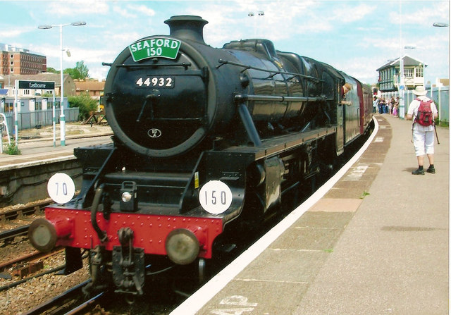 Black 5 No 44932  in Eastbourne