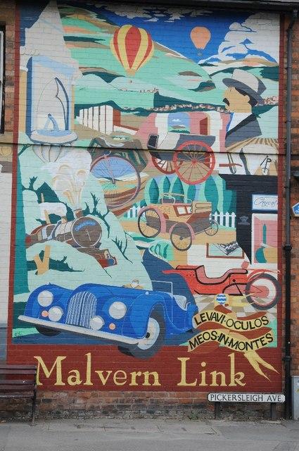 Mural In Malvern Link 169 Philip Halling Geograph Britain And Ireland