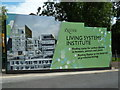 SX9194 : Exeter University - building site hoarding by Chris Allen