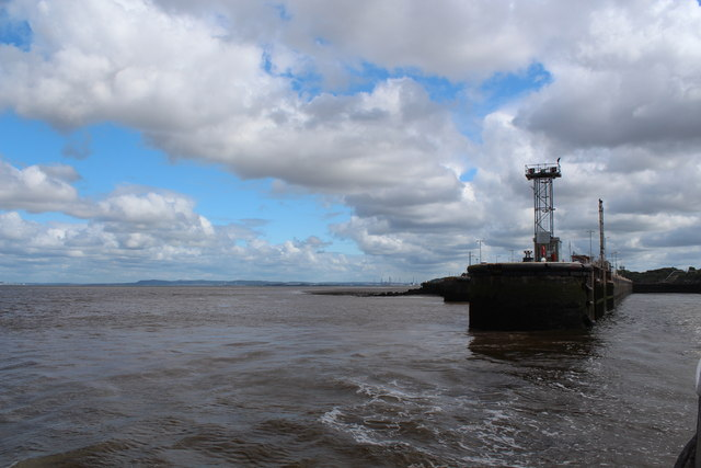 Eastham Locks and River Mersey