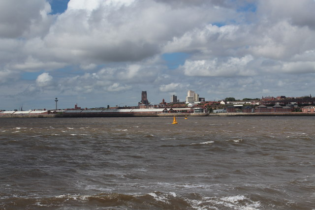River Mersey - Yellow Markers