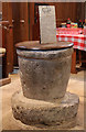 SU9006 : St Andrew, Tangmere - Font by John Salmon