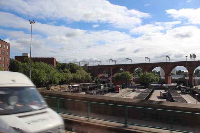 Stockport - Bus Station and Railway Viaduct