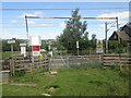 SE1546 : Bridleway crossing the railway at Burley in Wharfedale by John Slater