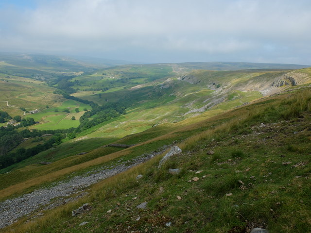 The view along Fremington Edge