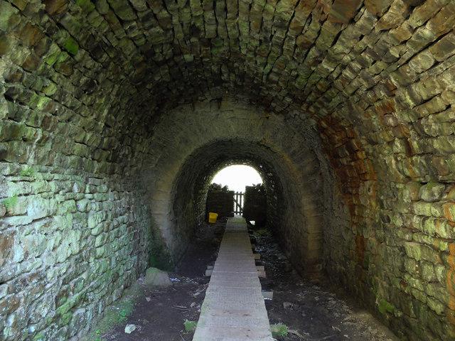 Inside Booze Wood Tunnel