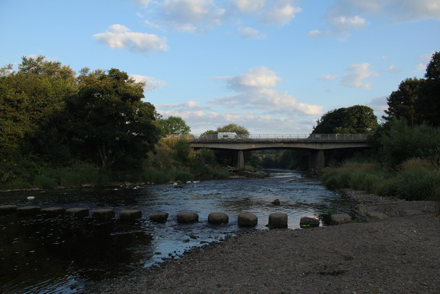 Overmills Bridge and Stepping Stones