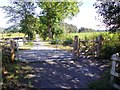 NJ5800 : Farm and pedestrian gates on the Deeside Way by Stanley Howe