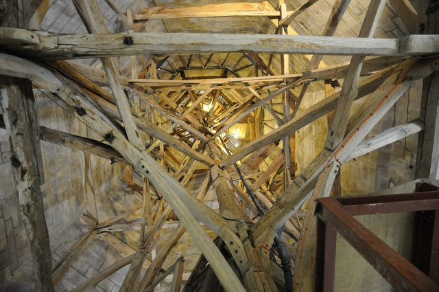 Timber Within The Spire Of Salisbury 169 Philip Halling