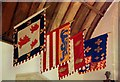 SP6604 : Flags in Ryecote Chapel by Des Blenkinsopp