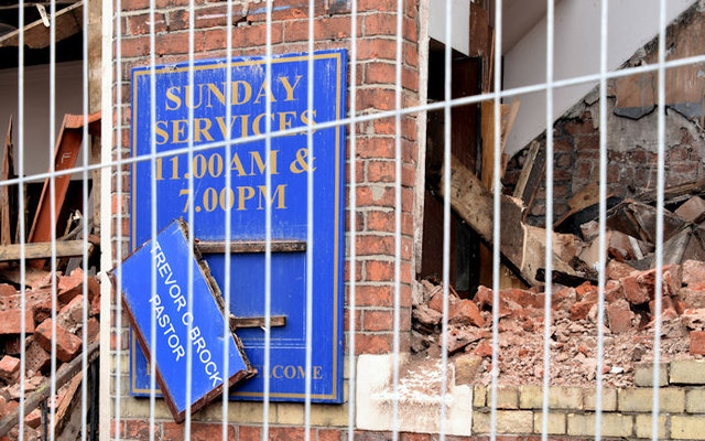 Gt Victoria Street Baptist church, Belfast (demolition) - August 2014(3)