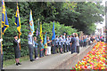 SP9211 : The Flag Party at the Unveiling, Tring Memorial Garden by Chris Reynolds