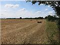 TL3566 : Straw bales by Hugh Venables