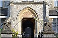 SX8570 : Mackrell�s Almshouses, Wolborough Street, northeast entrance by Robin Stott