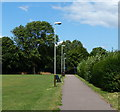 SK6007 : Path at Rushey Fields Recreation Ground by Mat Fascione