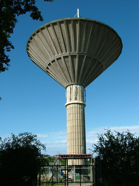 Water tower, officially at Raveningham
