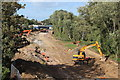 TQ7308 : Combe Valley Way construction by Oast House Archive
