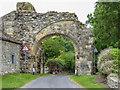 SE5479 : Remains of Gatehouse near Byland Abbey, Yorkshire by Christine Matthews