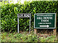 TM3193 : Low Road & Hill House Farm signs by AGC