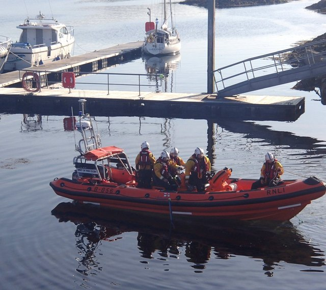 Lifeboat launch, Kyle of Lochalsh