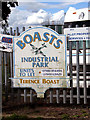 TM4488 : Sign at the entrance to Boast's Industrial Park by Evelyn Simak