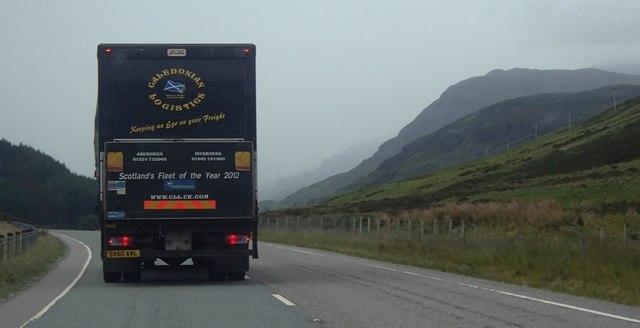 On the road down Glen Docherty