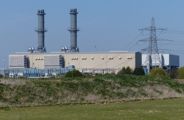 Near Gas Station >> Spalding Power Station © Mat Fascione :: Geograph Britain and Ireland