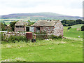 NY5546 : Ruined barn above Walmersyke by Oliver Dixon
