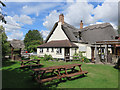 SP6407 : Ickford Rising Sun beer garden by John S Turner