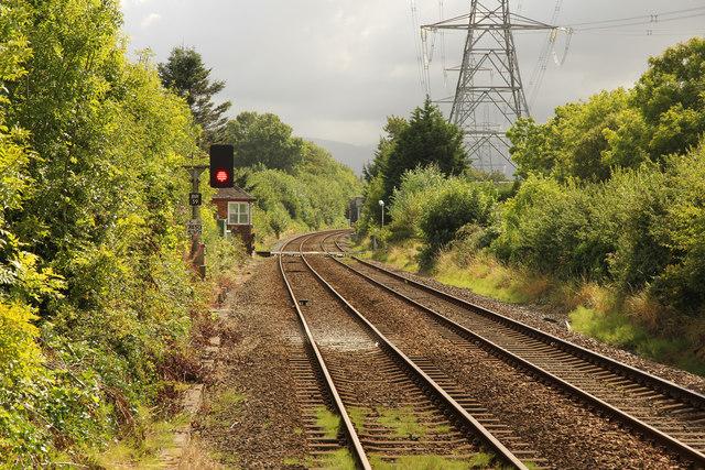 Railway east from Llanfair PG