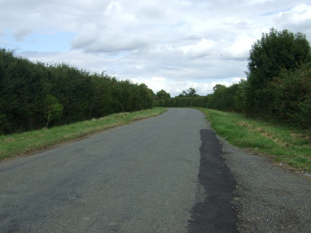 Rural road towards King's Cliffe